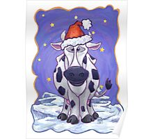 Cow Christmas Poster