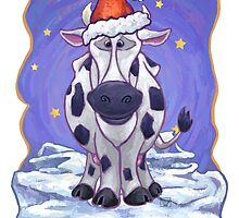 Cow Christmas Card by ImagineThatNYC
