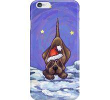 Hound Dog Christmas iPhone Case/Skin