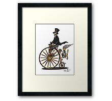 STEAMPUNK PENNY FARTHING BICYCLE Framed Print