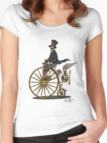 STEAMPUNK PENNY FARTHING BICYCLE Women's Fitted Scoop T-Shirt