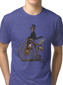 STEAMPUNK PENNY FARTHING BICYCLE Tri-blend T-Shirt