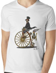 STEAMPUNK PENNY FARTHING BICYCLE Mens V-Neck T-Shirt