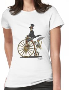 STEAMPUNK PENNY FARTHING BICYCLE Womens Fitted T-Shirt