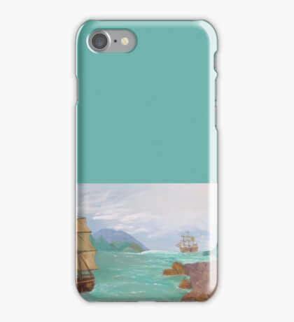 Old sailing ships. iPhone Case/Skin