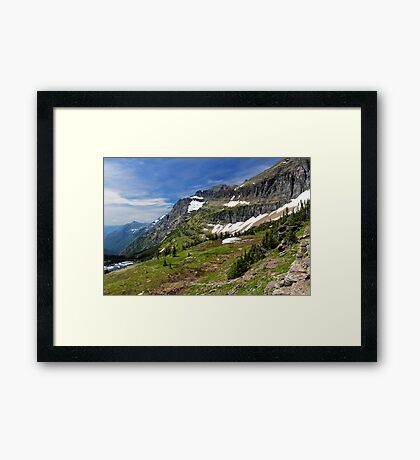Goat Trail in the Rocky Mountains Framed Print