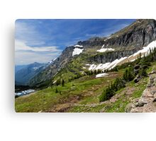 Goat Trail in the Rocky Mountains Canvas Print