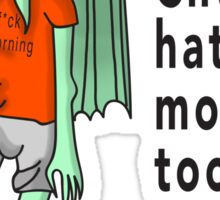 Chtulhu Hates Mornings Sticker