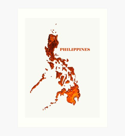 Philippine map logo WHT Art Print