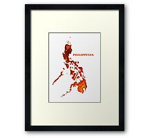 Philippine map logo WHT Framed Print