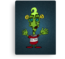 Beany Monster Canvas Print