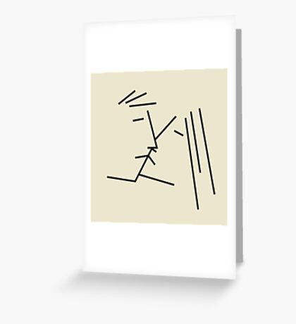 couple kissing Greeting Card
