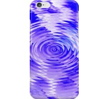 Citrus ripples - purple-blue iPhone Case/Skin