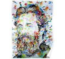 HERMAN MELVILLE watercolor portrait.2 Poster