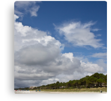 clouds rolling in on Hilton Head beach Canvas Print