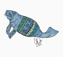 Manatee in Sharpie by JasmineMDeLeon