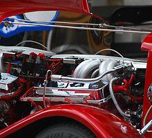Old car motor by cgarphotos