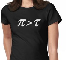 Pi > Tau Womens Fitted T-Shirt