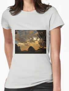 Beautiful Sky With Rainbow In The Distance Womens Fitted T-Shirt