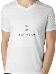 Nix Pix Wars Mens V-Neck T-Shirt
