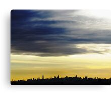 New York City Silhouette Canvas Print