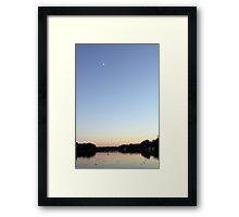 Sunset Moonrise Framed Print