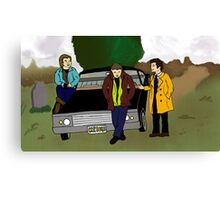Team Free Will as Mystery Inc. Canvas Print