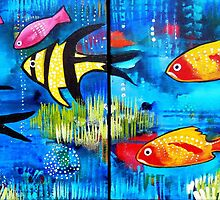 4 Pink Fish by Rachel Ireland-Meyers