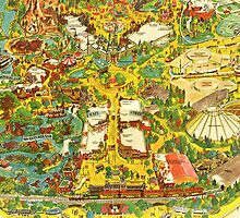 Vintage Late 1970's Disneyland Map by DisneyGeek