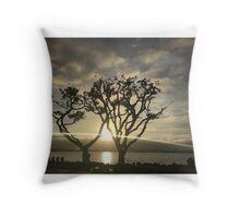 Corel Trees Throw Pillow