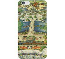 Vintage National Geographic Disneyland Map iPhone Case/Skin