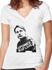 Misfits # GREG- The Power of Love Women's Fitted V-Neck T-Shirt