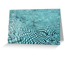Underwater Movement Greeting Card