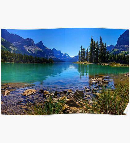 Maligne Lake, Jasper National Park, Canada Poster