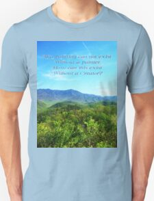 How can this exist without a creator? - Mountains T-Shirt