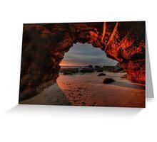 Caves Beach Sunrise. 9-11-13. Greeting Card