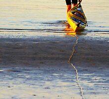 Yellow Kayak by Trish Threlfall
