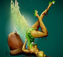 Zombie Pin-up Tinkerbell by Jeff Arnolds  Art