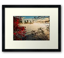 Lake Fog Framed Print