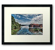 Waterscape of Bukit Merah, Malaysia Framed Print