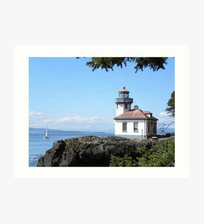 Lime Kiln Park Lighthouse Art Print