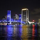 Downtown at the River by Bob Hardy