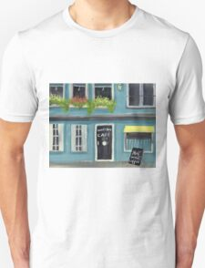 Blue Honey Bee cafe acrylic painting Unisex T-Shirt