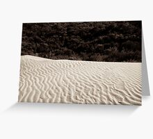 sand dune wilsons promontory Greeting Card