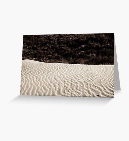 sand dune wilsons promontory Greeting Card