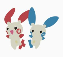 Plusle and Minun by adhpv