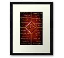The High Five Code Framed Print