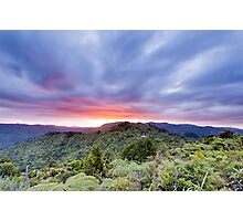 Sunset over the Waitakeres Photographic Print
