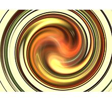 Warm Honey Swirl Photographic Print