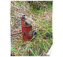 North Forty - Poppy Red Hydrant Poster